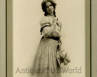 Alberta Lee actress silent movie star antique photo