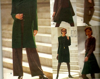 1994 Vintage Vogue 1471  Sewing Pattern VERY EASY Misses' Jacket, vest top, skirt pants and scarf  Size 14 -16- 18
