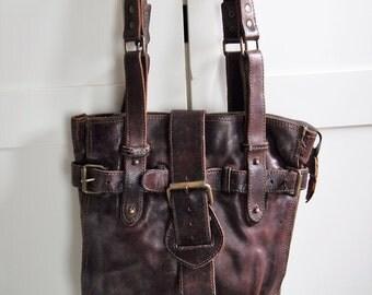 Leather Purse bag Vintage Leather bag  handbag  Purse crossbody bag Messenger Bag 90's leather Handbag womens bag Boho Bag