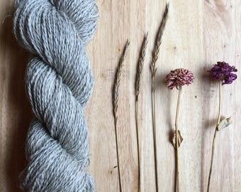 Mohair Yarn - Natural Grey Wool mohair yarn - Undyed  DK / sport weight Yarn