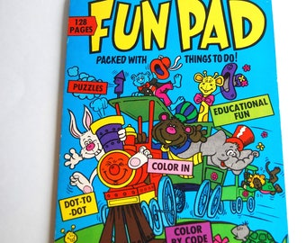 Vintage Fun Pad children's activity book