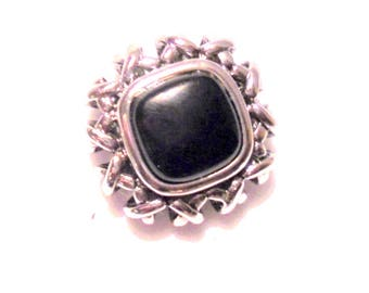 Staxx Sterling Silver and Onyx Topper