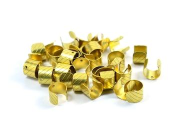 20 Pcs. Raw Brass 8 mm Width Ear Cuff Findings 1 Hole