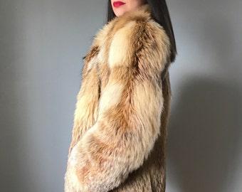 Luxury vintage BLONDE FOX FUR coat | fox fur jacket