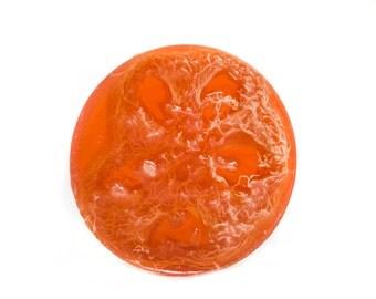 Sweet Orange Foot Scrub Soap, Pedicure Soap, Loofah Soap, Luffa Soap, Exfoliating Soap, Soap for Feet, Natural, Vegan, Essential Oils