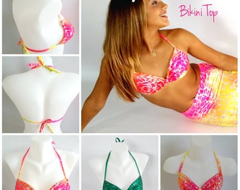 Matching Pinched Bandeau Bikini Top For Swimmable Mermaid Tails