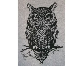Celtic Owl Crew T-Shirt BL