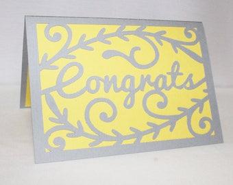 Handmade Congratulations Card - Graduation Card - Wedding Card