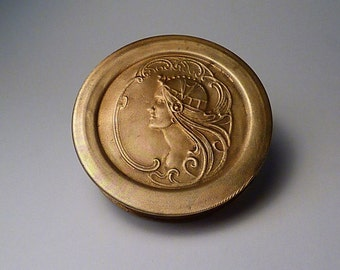 Cleopatra Vanity Box 1910 extremely rare compacts antique Art Nouveau compact mirrors