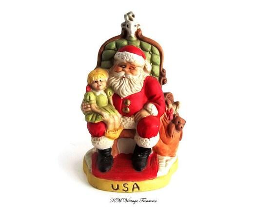 Vintage porcelain santa claus figurine s of the