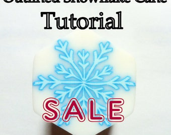 Snowflake Polymer Clay Cane Tutorial - TUTORIAL - Outlined / Ghost Snowflake Cane
