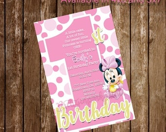 Baby Minnie Invitation