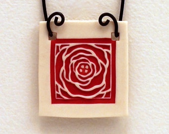 Chrysanthemum Relief Print