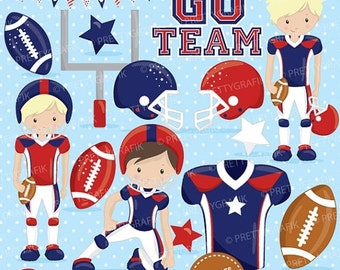 80% OFF SALE American football clipart commercial use, football vector graphics, super bowl digital clip art, digital images - CL721
