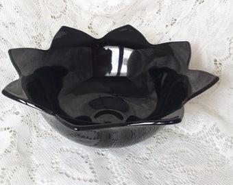 L E Smith Black Amethyst Bowl