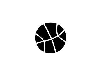 Set of 4 1.5X1.5 Inch Basketball Vinyl Decals