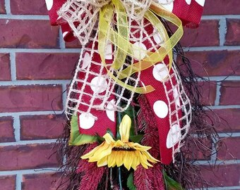 Sunflower Grapevine Swag