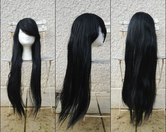 Black straight long wig - Cosplay