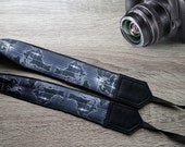 World Map Camera Strap.  Map In A Night Strap. Birthday Gift. Photo Accessories