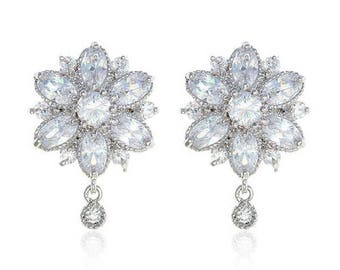 "Dragon Flower earrings Prom Bridal Wedding Gauges tunnels Plugs 8g 6g 4g 2g 0g 00g 7/16"" 1/2"" 3mm 4mm 5mm 6mm 8mm 10mm 11mm 12mm"