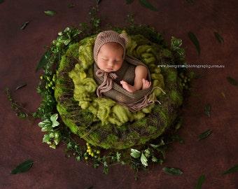 Moss Nest Photo Prop, Mossy Twig Nest Newborn Prop, Photo Prop, Baby Nest, Newborn Organic Nest, Photography Prop, Artificial Moss Nest