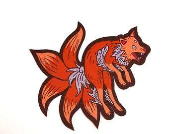 Kitsune Iron-On Patch