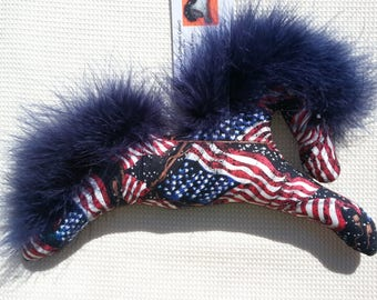 4th of July, patriotic, red white and blue, American flag, horse, ornament