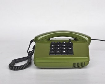 Vintage Telephone / Post FeTAp 82 - 2 Telephone / 80's Germany / Olive Green