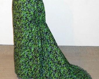 Irish  Skirt /Fantail Skirt/Victorian Steampunk/Tie Back Skirt /