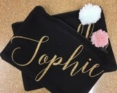 LIMITED EDITION Personalised Glitter Pouch with Pom Pom detail