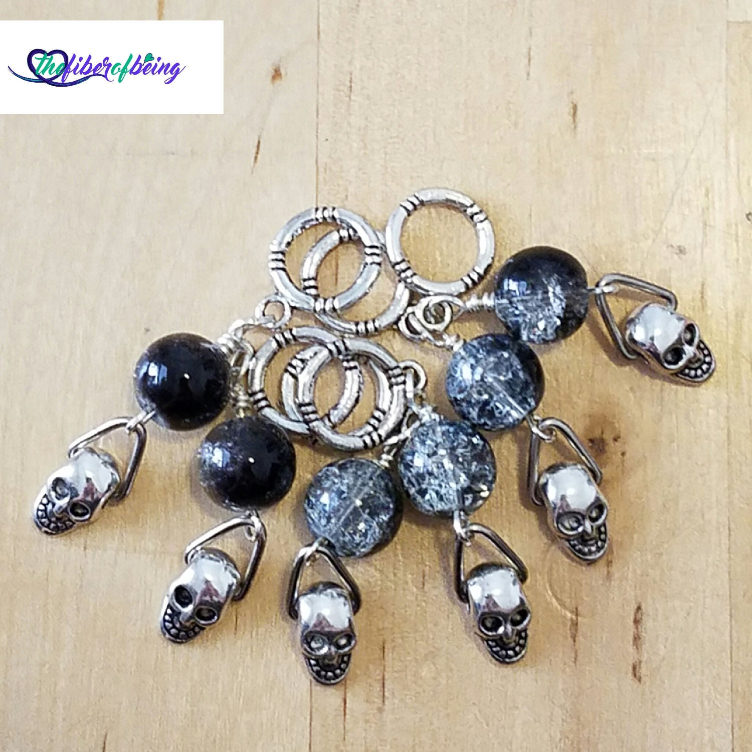 Knitting Markers Etsy : Skull knit stitch markers knitters gifts from