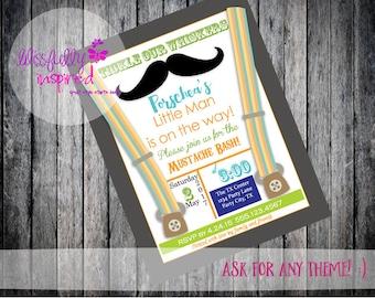 Boy Baby Shower | Mustache | Little Man