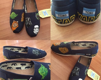 Star Wars Toms. Star Wars Shoes. May The Force Be With You Shoes! Yoda Toms. Darth Vader Toms. Chewbacca Toms. Luke Skywalker Shoes. Vans