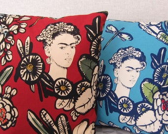Frida kahlo flower cushion cover