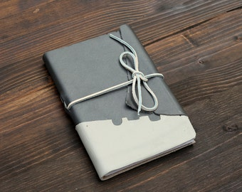 Gray and White Leather Bristol Journal
