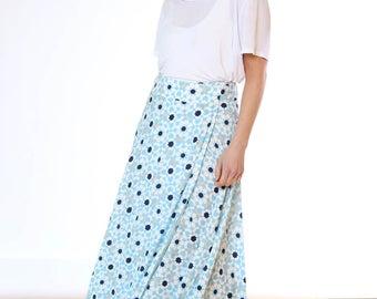 Turquoise & Sapphire Wrap Skirt