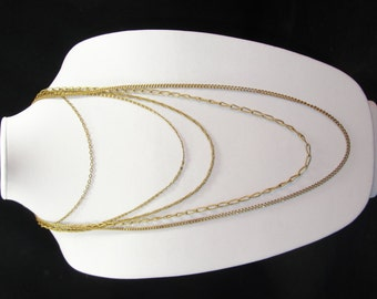 Vintage CITATION Necklace Gold Layer Chains Multi Strand Beautiful!