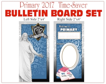 Primary Bulletin Board 2017 CTR Choose The Right - Vinyl Poster backgrounds - Companion listing to matching printables