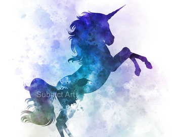 Unicorn ART PRINT illustration, Horse, Magical, Fantasy, Wall Art, Home Decor