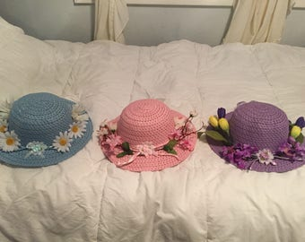 """Spring/summer """"garden hats"""""""