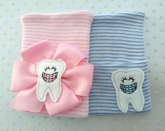 Newborn Hospital Hat with orthodontist emblem-baby girl orthodontist hat-baby boy tooth hat-newborn orothodontist hat