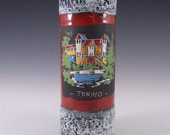 San Marino Style Torino Italian Ceramic Pottery Vase