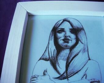 Charcoal Figure Drawing (Framed) Rebecca Deegan