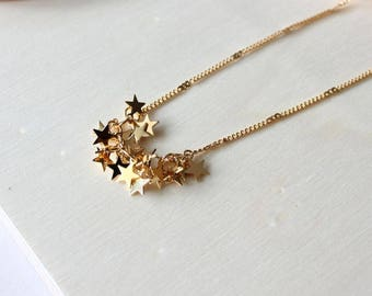 Stella necklace/ Golden necklace/ Stars