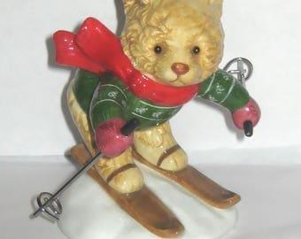Hummelwerk Japan Bear 1984 Bialosky & Friends Animal Figurine Downhill Ski Porcelain