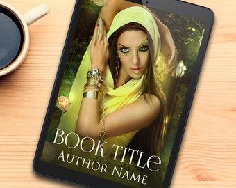 digital pre designed fantasy portrait cover for indie authors
