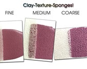 Texture sponges, texture tool, texturing, spugne, clay texture, texturizzare