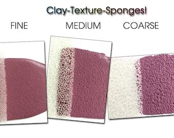Texture sponges, texture tool, texturing, spugne, clay texture, texturizzare