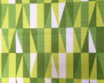 Geometric vintage fabric green retro upholstery fabric mid century modern fabric Sven Markelius Prisma Swedish fabric scandinavian design