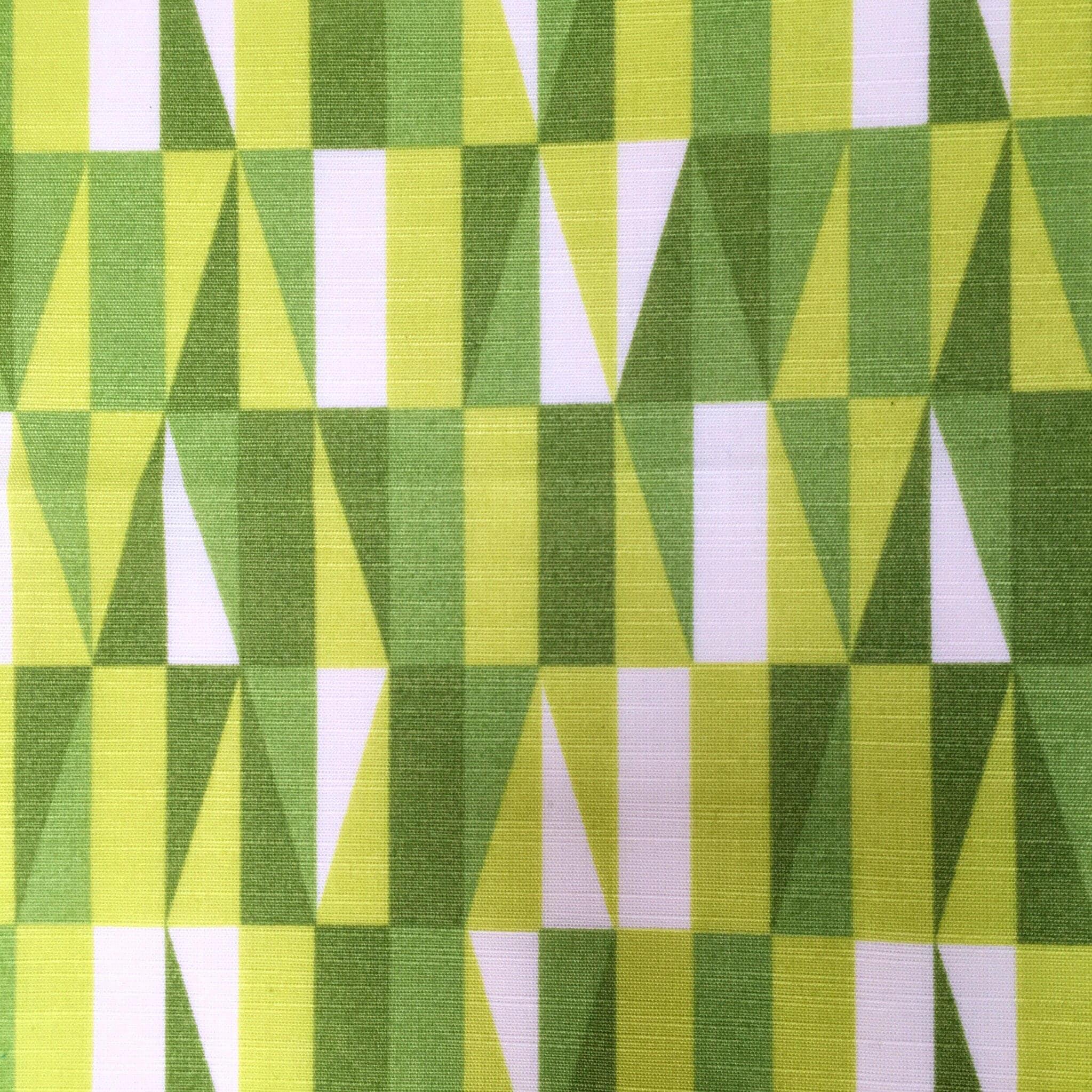 Geometric vintage fabric green retro upholstery fabric mid for Retro fabric